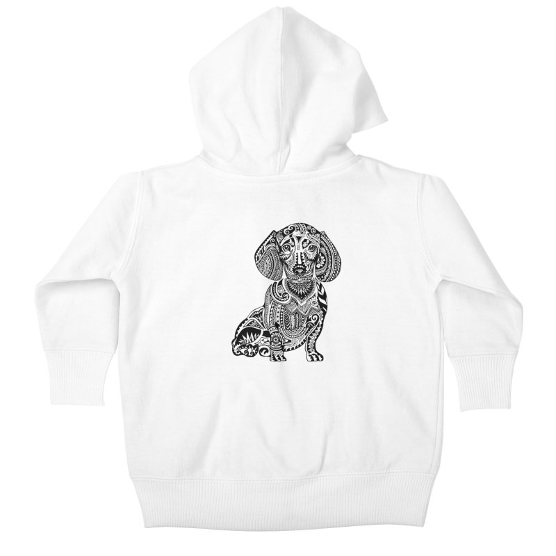 Polynesian Dachshund Kids Baby Zip-Up Hoody by huebucket's Artist Shop