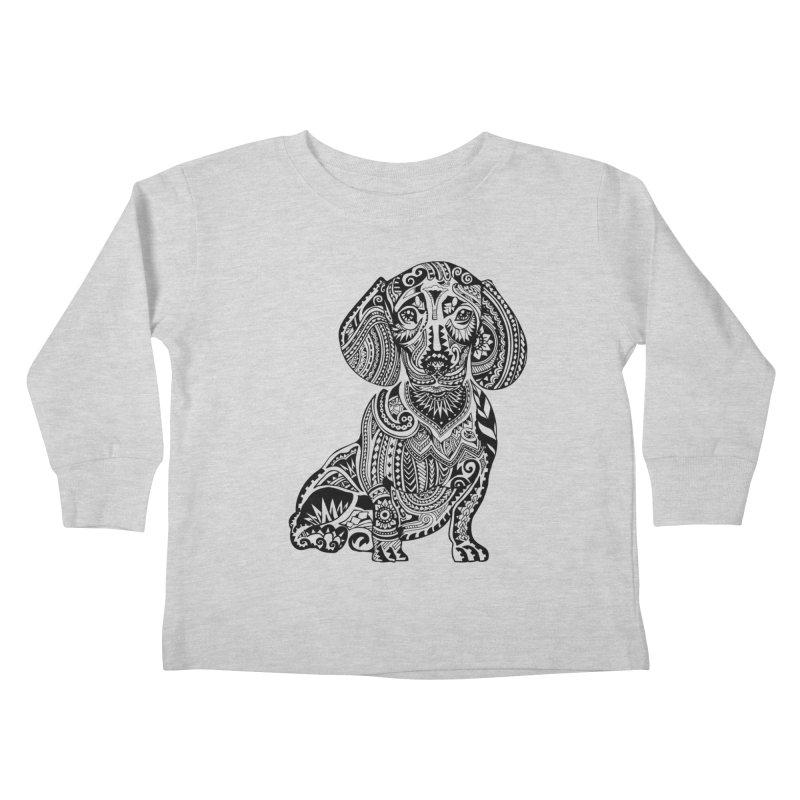 Polynesian Dachshund Kids Toddler Longsleeve T-Shirt by huebucket's Artist Shop