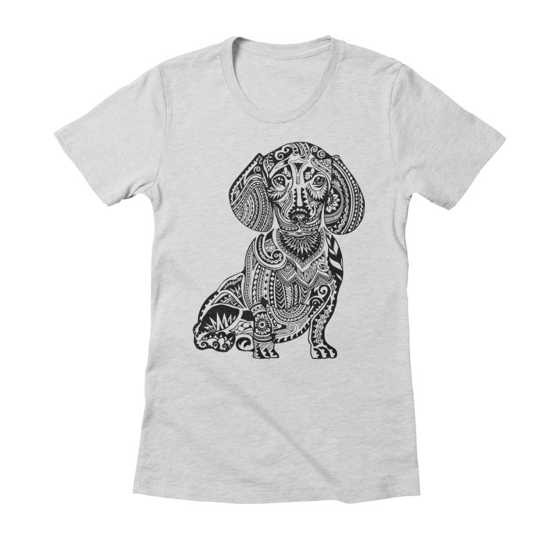 Polynesian Dachshund Women's Fitted T-Shirt by huebucket's Artist Shop