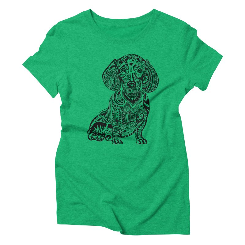 Polynesian Dachshund Women's Triblend T-shirt by huebucket's Artist Shop
