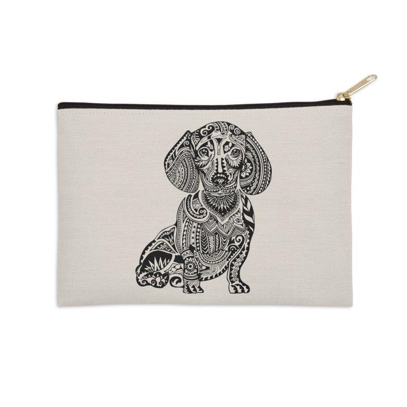 Polynesian Dachshund Accessories Zip Pouch by huebucket's Artist Shop
