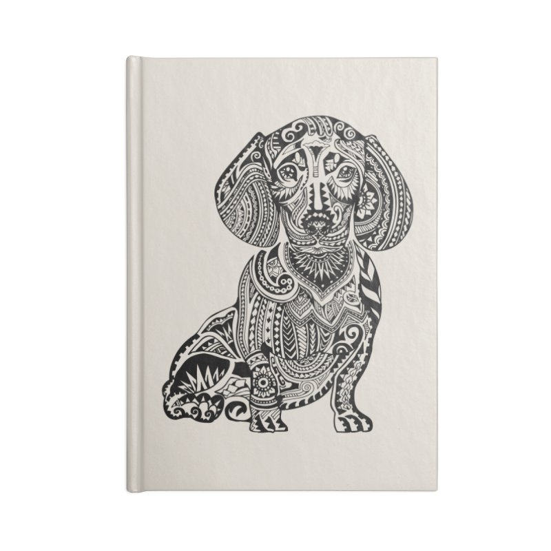 Polynesian Dachshund Accessories Notebook by huebucket's Artist Shop
