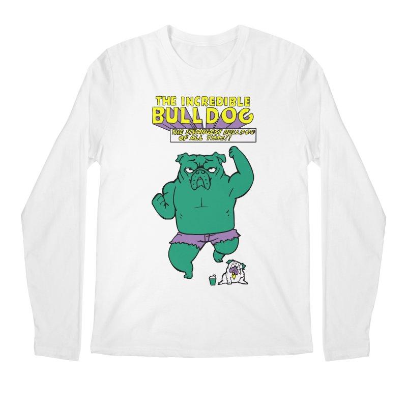 The Incredible English Bulldog Men's Longsleeve T-Shirt by huebucket's Artist Shop
