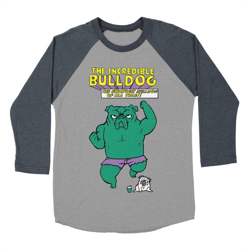 The Incredible English Bulldog Men's Baseball Triblend T-Shirt by huebucket's Artist Shop