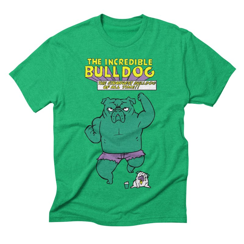 The Incredible English Bulldog Men's Triblend T-shirt by huebucket's Artist Shop