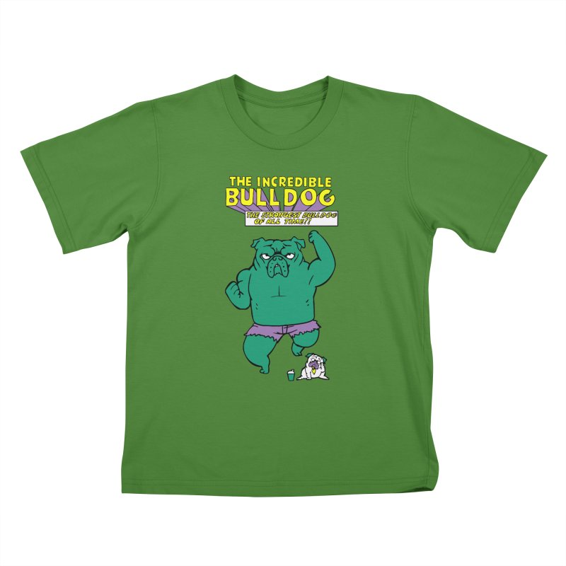 The Incredible English Bulldog Kids T-shirt by huebucket's Artist Shop