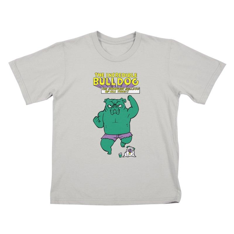 The Incredible English Bulldog Kids T-shirt by huebucket's Artist Shop