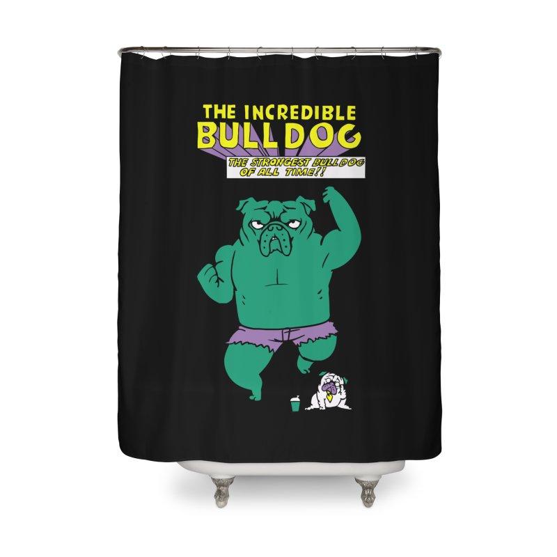 The Incredible English Bulldog Home Shower Curtain by huebucket's Artist Shop
