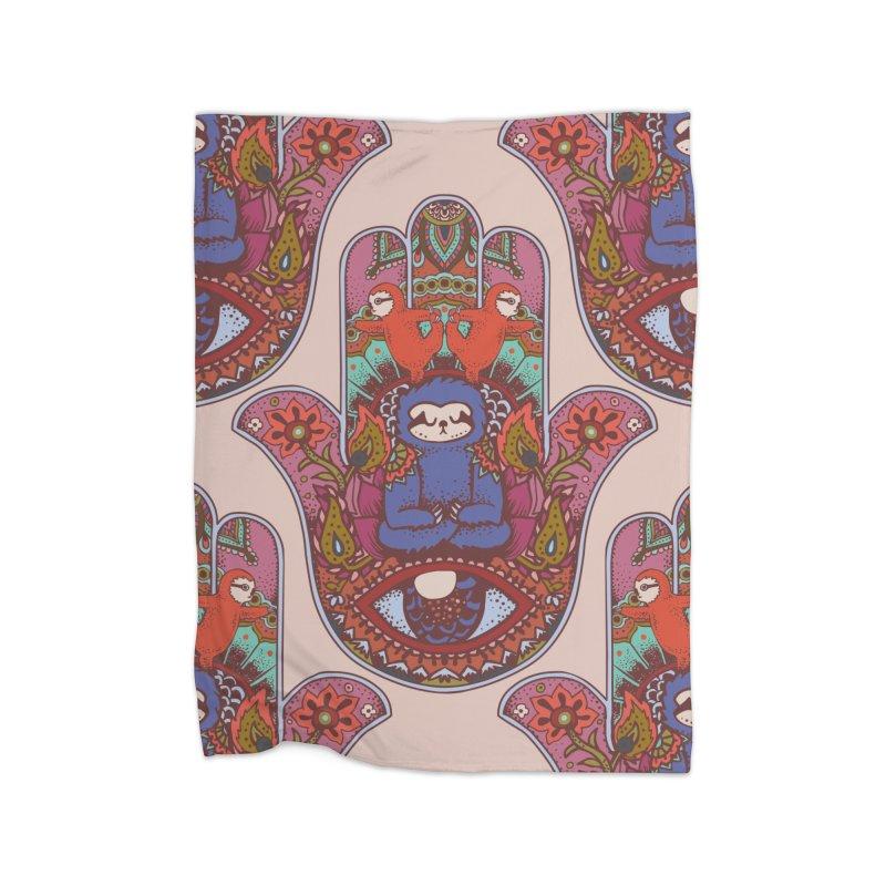 Hamsa Sloth Home Blanket by huebucket's Artist Shop