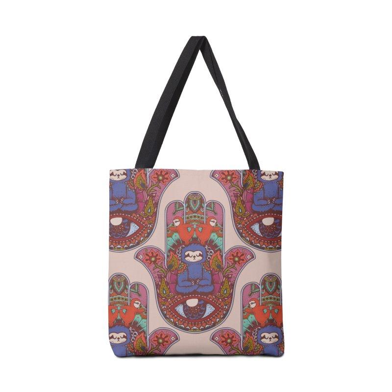 Hamsa Sloth Accessories Bag by huebucket's Artist Shop