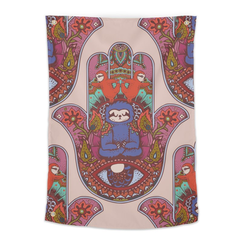 Hamsa Sloth Home Tapestry by huebucket's Artist Shop