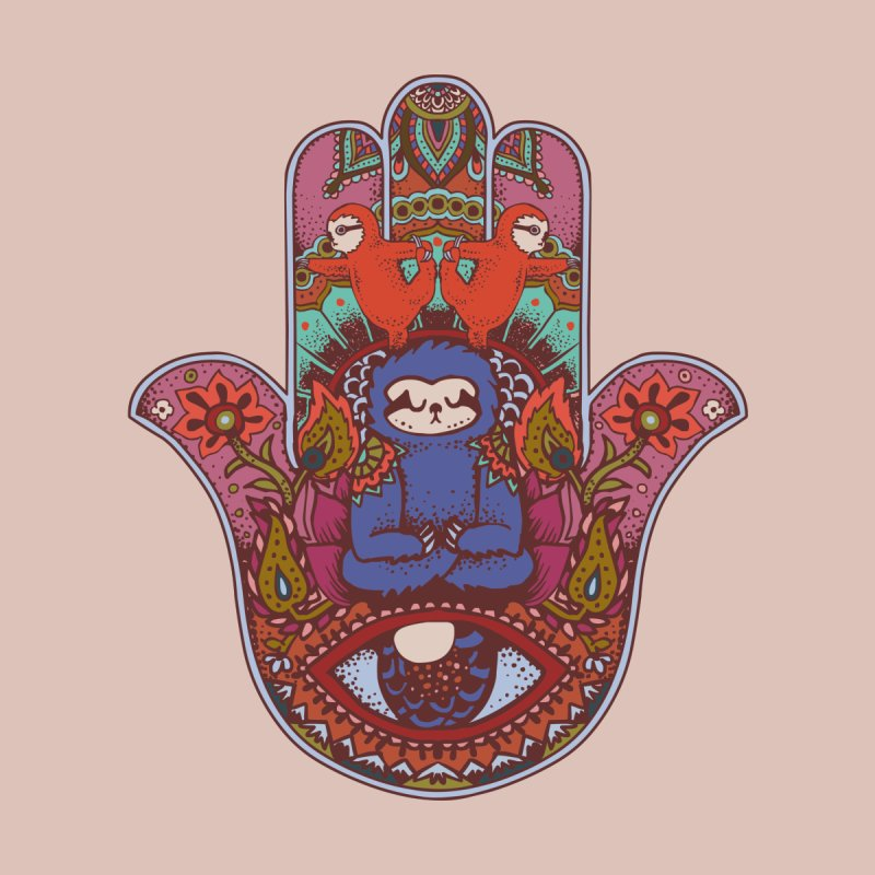 Hamsa Sloth   by huebucket's Artist Shop