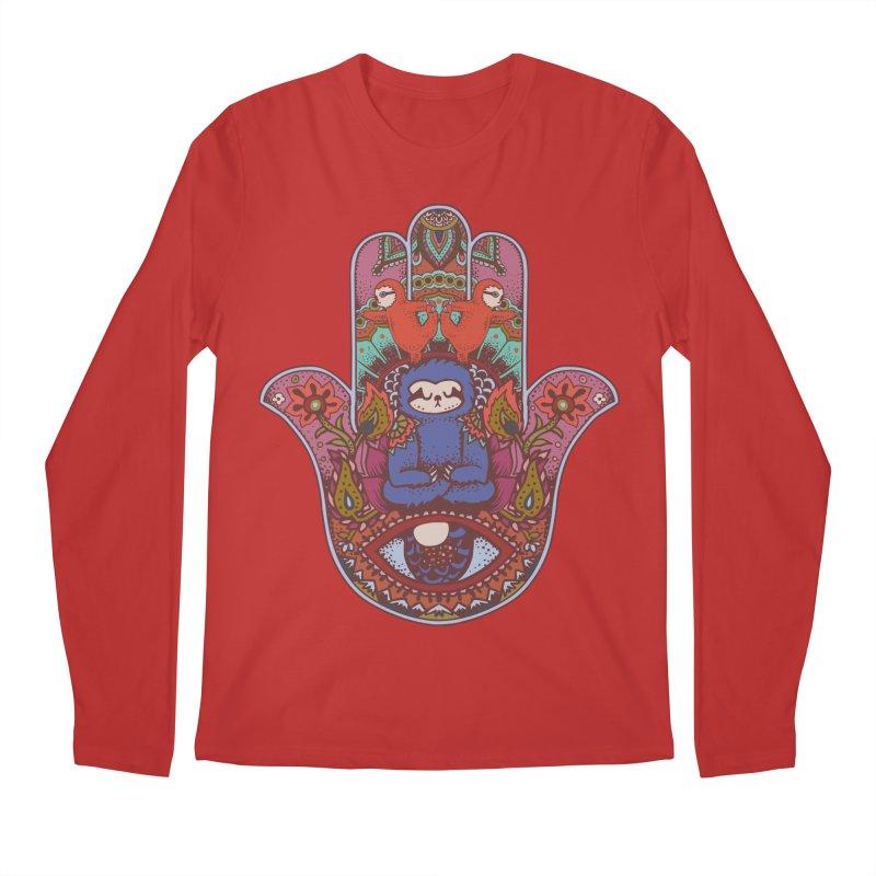 Hamsa Sloth Men's Longsleeve T-Shirt by huebucket's Artist Shop