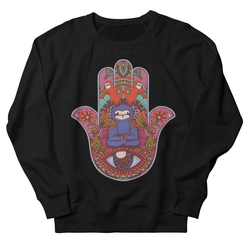 Hamsa Sloth Men's Sweatshirt by huebucket's Artist Shop