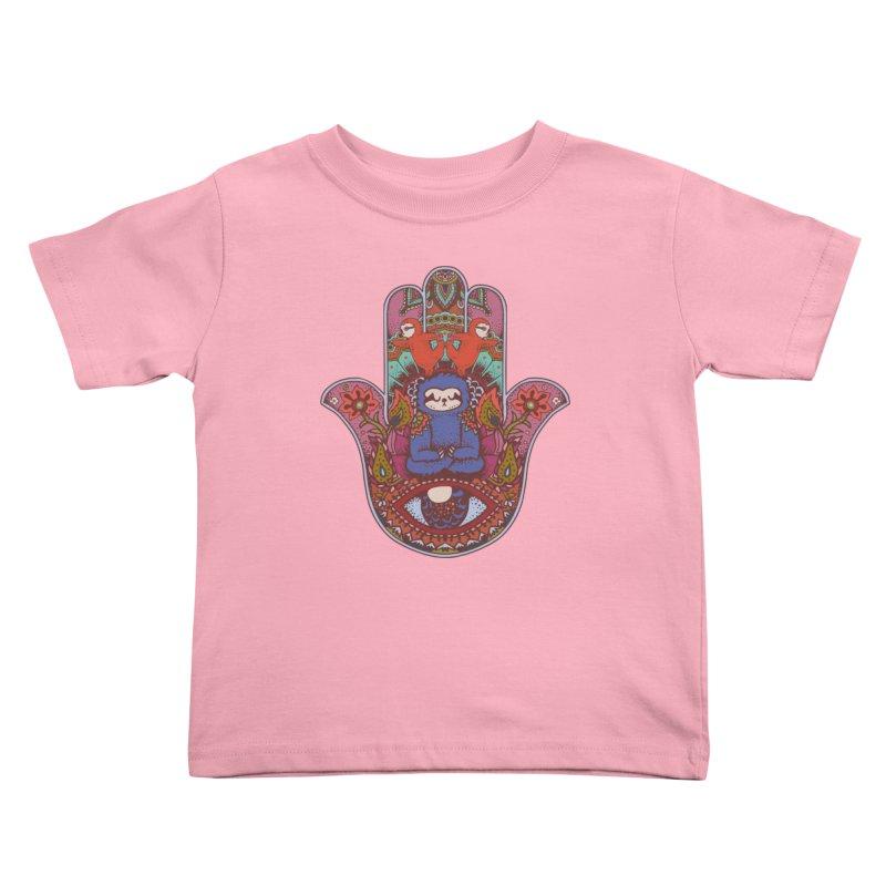 Hamsa Sloth Kids Toddler T-Shirt by huebucket's Artist Shop