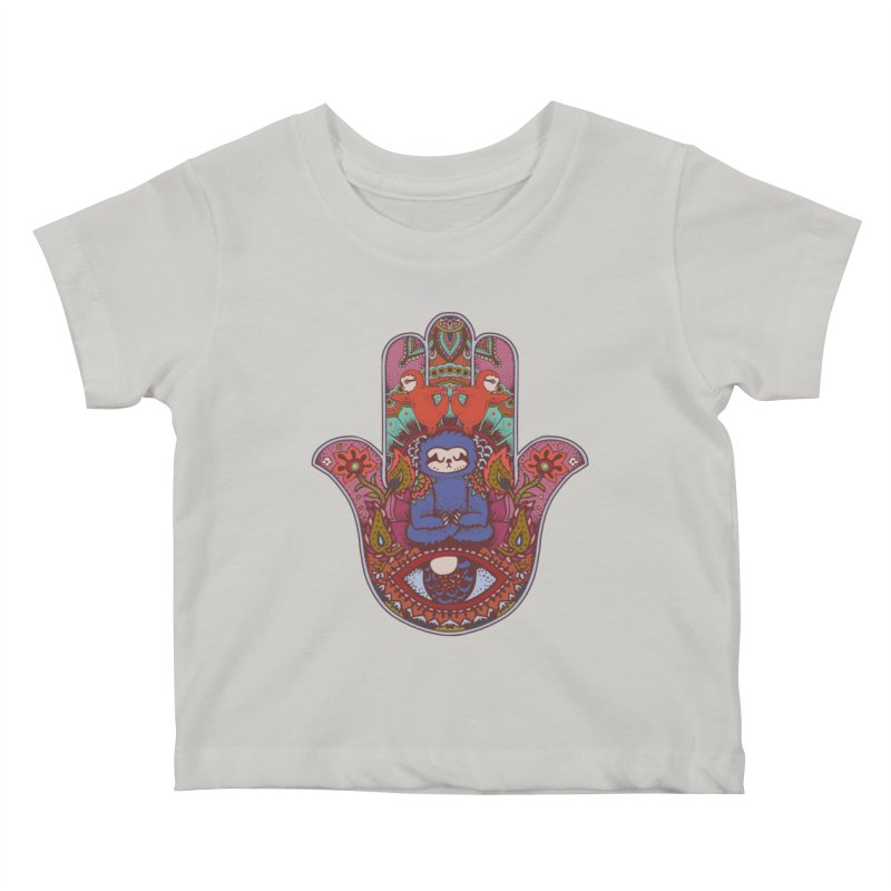 Hamsa Sloth Kids Baby T-Shirt by huebucket's Artist Shop