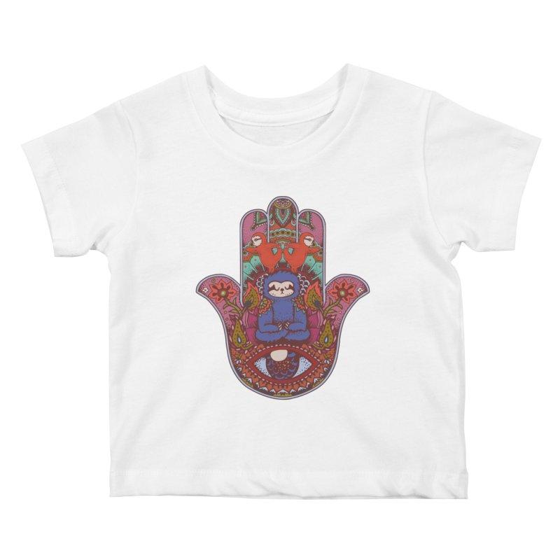 Hamsa Sloth Kids Baby T-Shirt by huebucket's Artist Shop