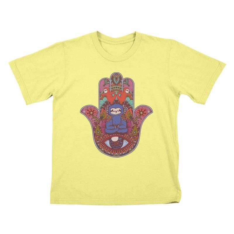 Hamsa Sloth Kids T-shirt by huebucket's Artist Shop