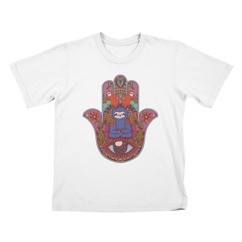 Hamsa Sloth Kids T-shirt by huebucket's Artist Shop