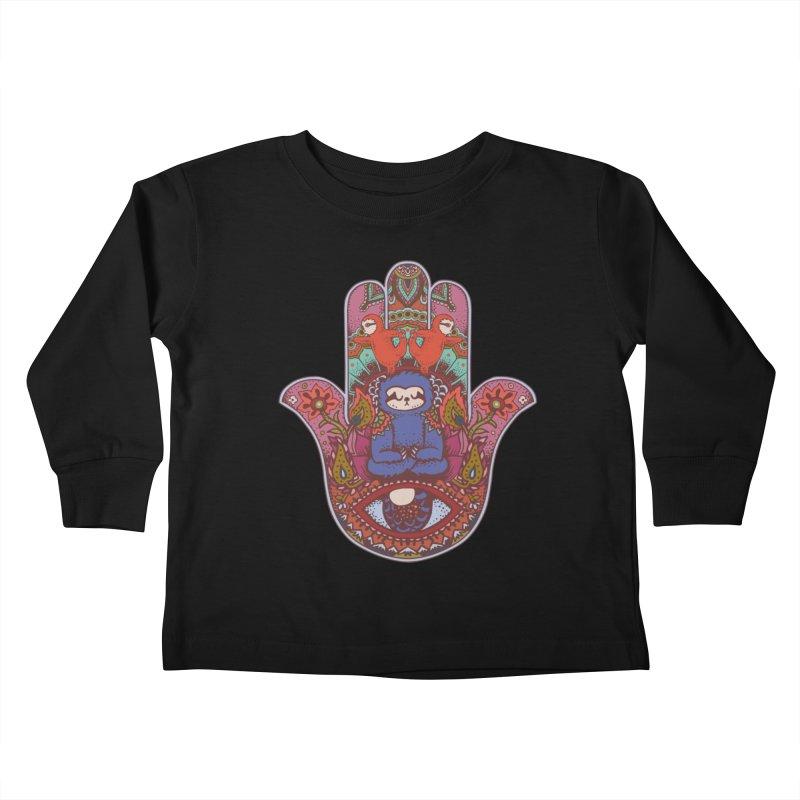 Hamsa Sloth Kids Toddler Longsleeve T-Shirt by huebucket's Artist Shop