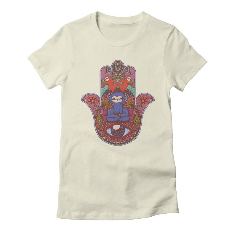 Hamsa Sloth Women's Fitted T-Shirt by huebucket's Artist Shop