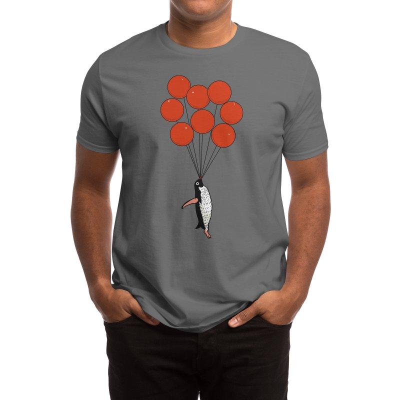 I Believe I Can Fly Penguin Men's T-Shirt by huebucket's Artist Shop