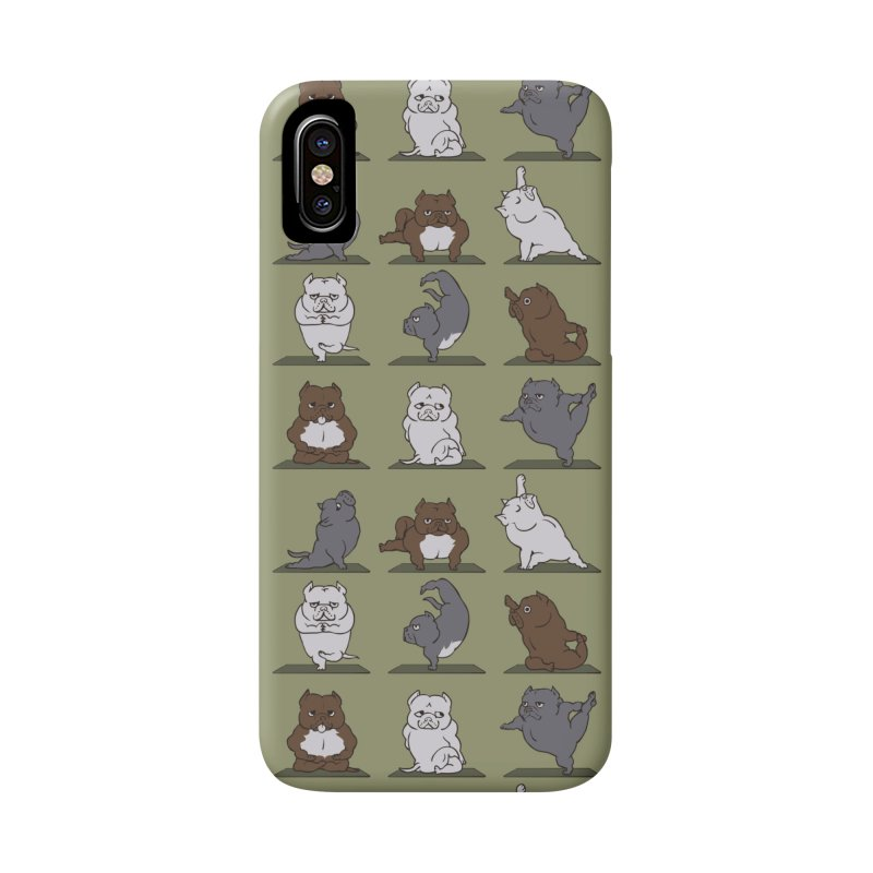 The American Bully Yoga Accessories Phone Case by huebucket's Artist Shop