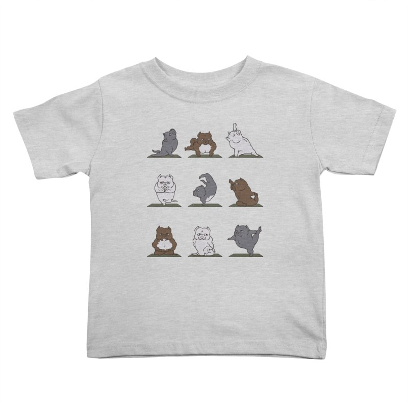 The American Bully Yoga Kids Toddler T-Shirt by huebucket's Artist Shop