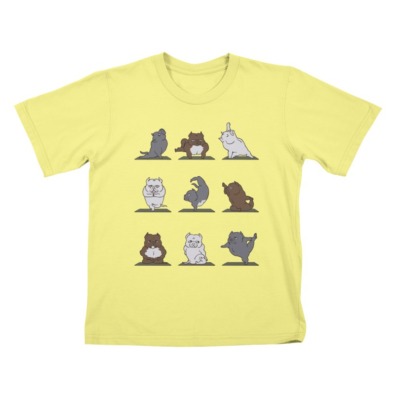 The American Bully Yoga Kids T-shirt by huebucket's Artist Shop