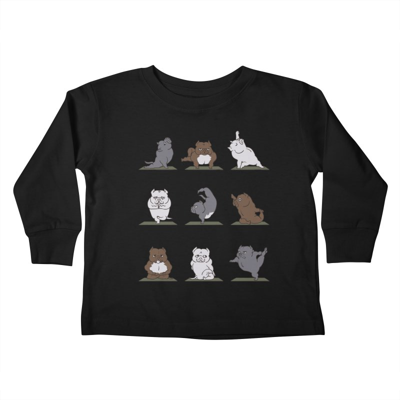 The American Bully Yoga Kids Toddler Longsleeve T-Shirt by huebucket's Artist Shop