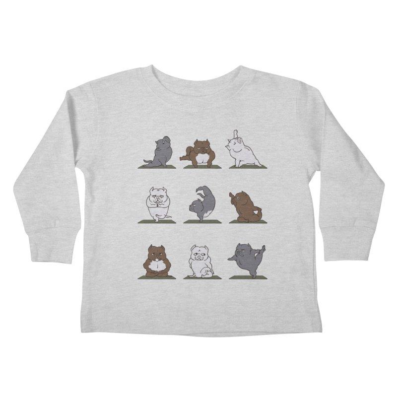 The American Bully Yoga Kids Toddler Longsleeve T-Shirt by huebucket's Artist Shop