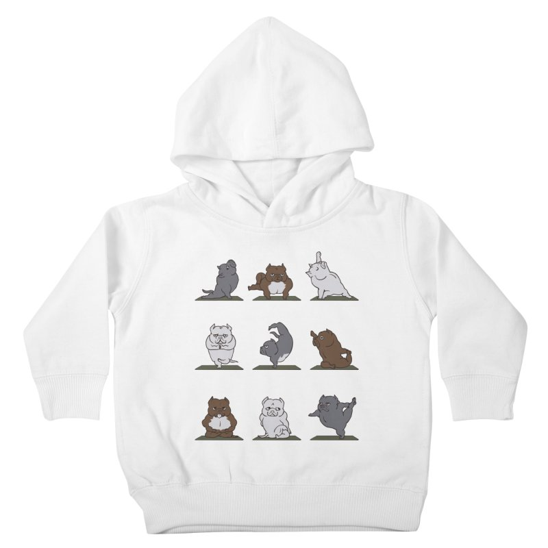 The American Bully Yoga Kids Toddler Pullover Hoody by huebucket's Artist Shop