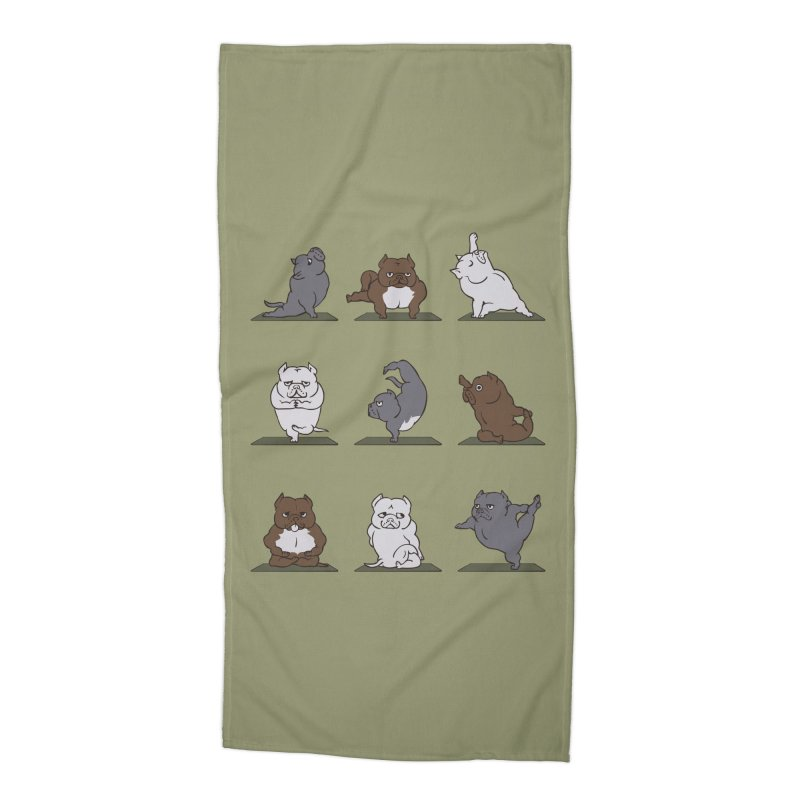 The American Bully Yoga Accessories Beach Towel by huebucket's Artist Shop