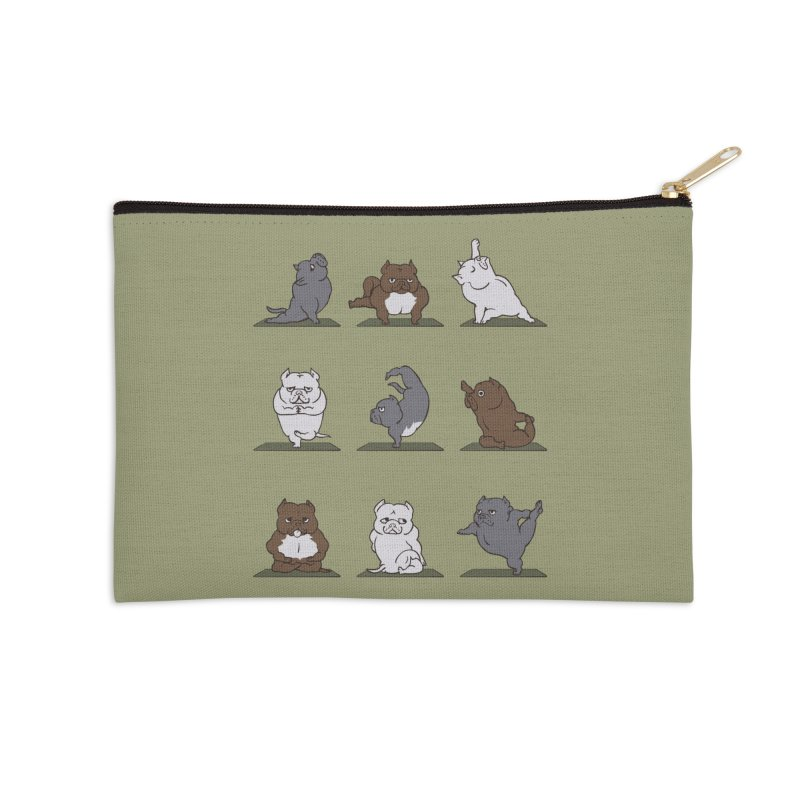 The American Bully Yoga Accessories Zip Pouch by huebucket's Artist Shop