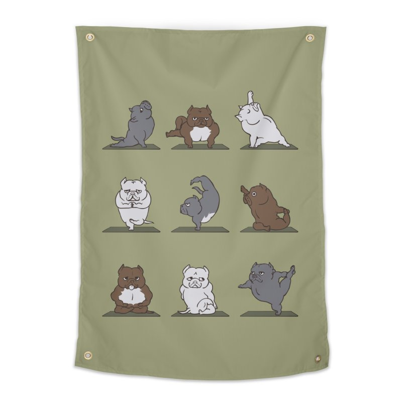 The American Bully Yoga Home Tapestry by huebucket's Artist Shop