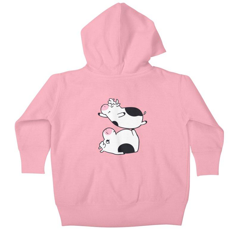 Acroyoga Cow Kids Baby Zip-Up Hoody by huebucket's Artist Shop