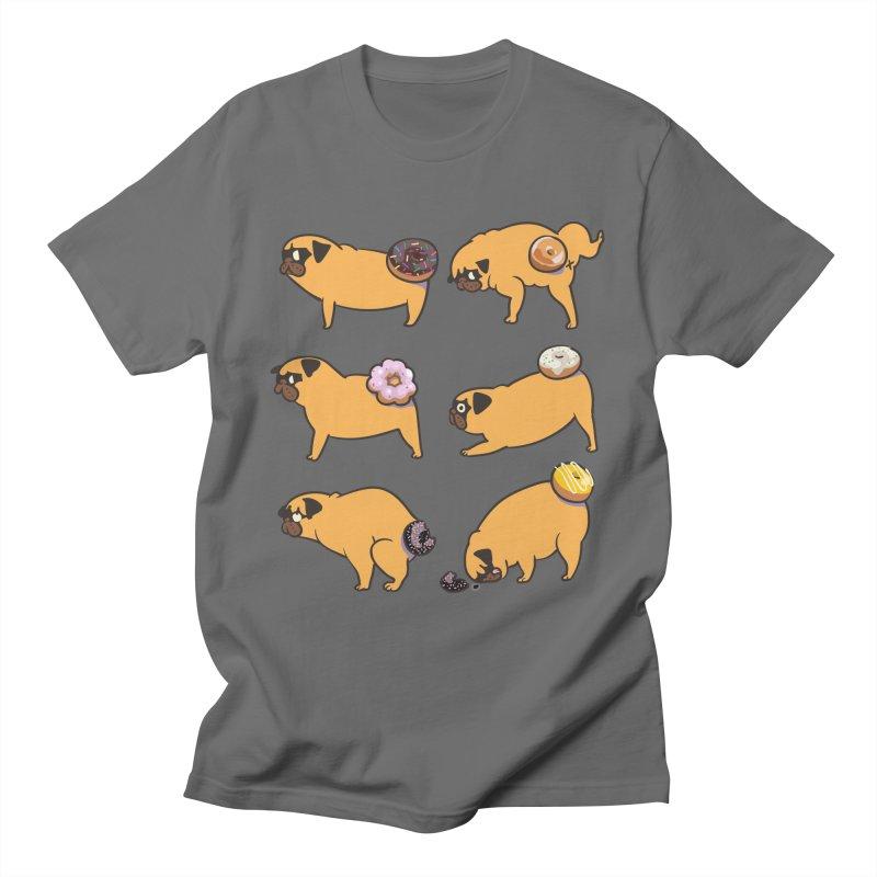 Pug Donuts Men's T-Shirt by huebucket's Artist Shop