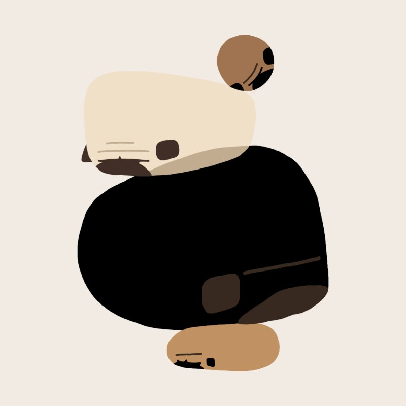 Balance Rock Abstract Pug Women's Sweatshirt by huebucket's Artist Shop