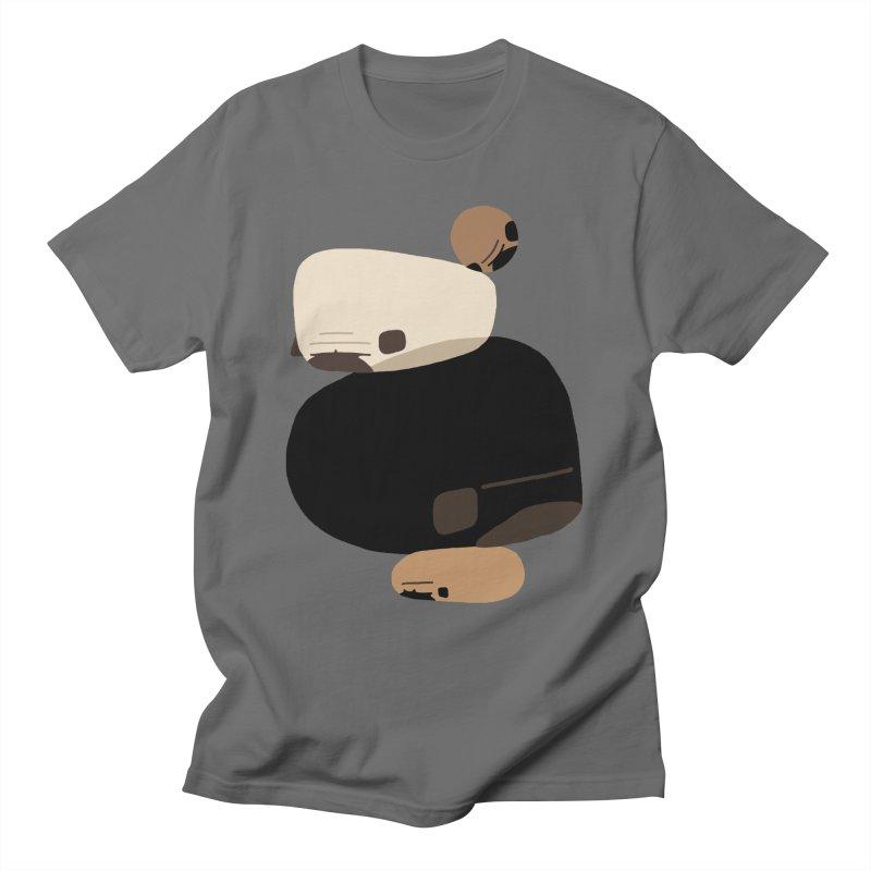Balance Rock Abstract Pug Men's T-Shirt by huebucket's Artist Shop