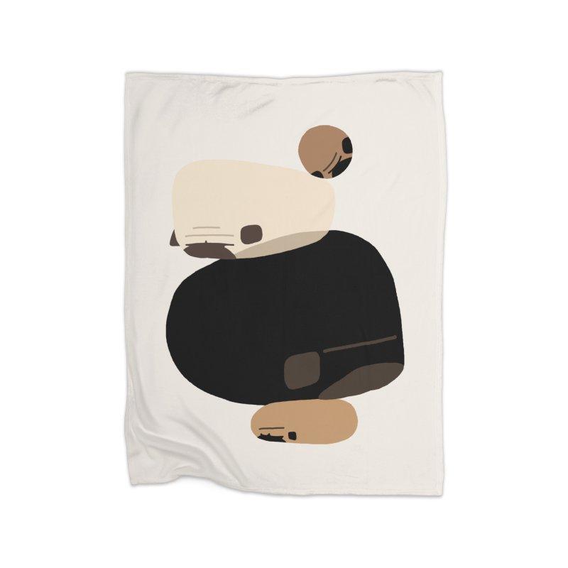 Balance Rock Abstract Pug Home Blanket by huebucket's Artist Shop