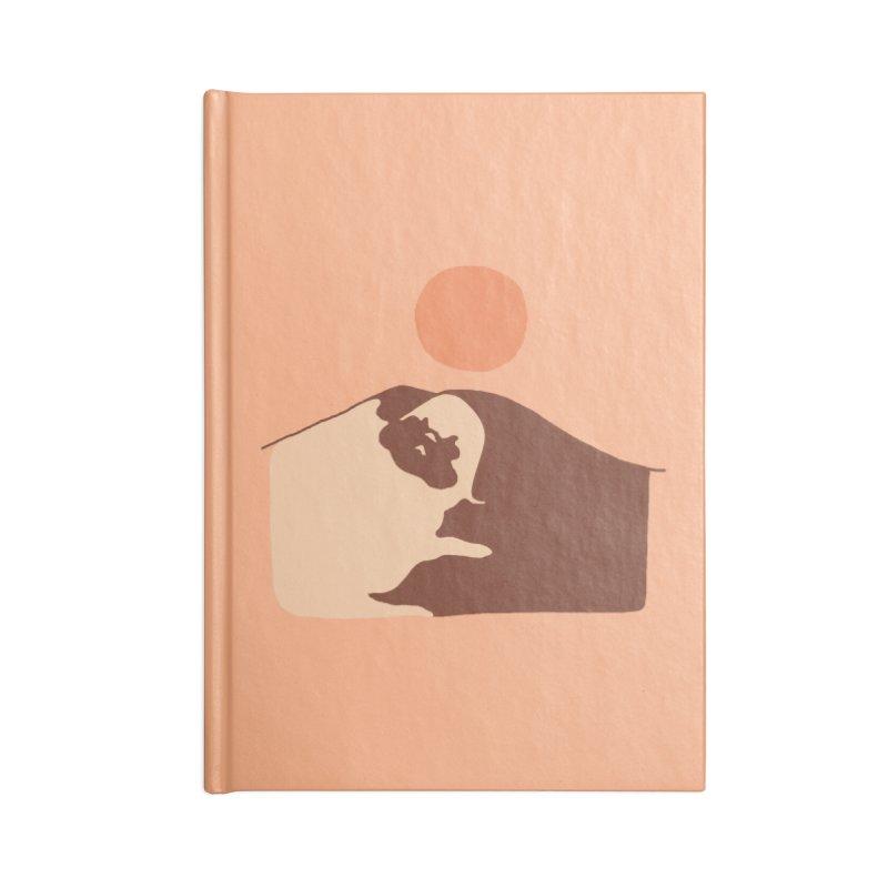 Abstract Desert Pug Accessories Notebook by huebucket's Artist Shop