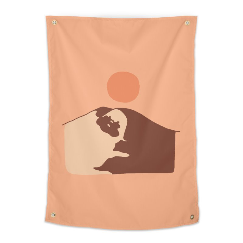 Abstract Desert Pug Home Tapestry by huebucket's Artist Shop
