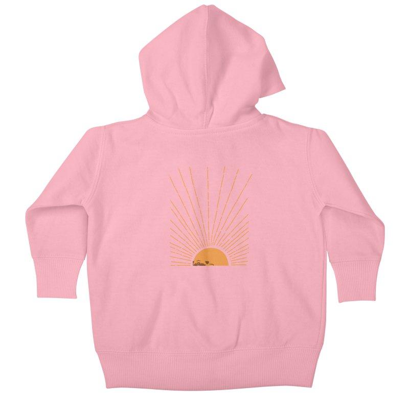 Abstract Sunrise Pug Kids Baby Zip-Up Hoody by huebucket's Artist Shop