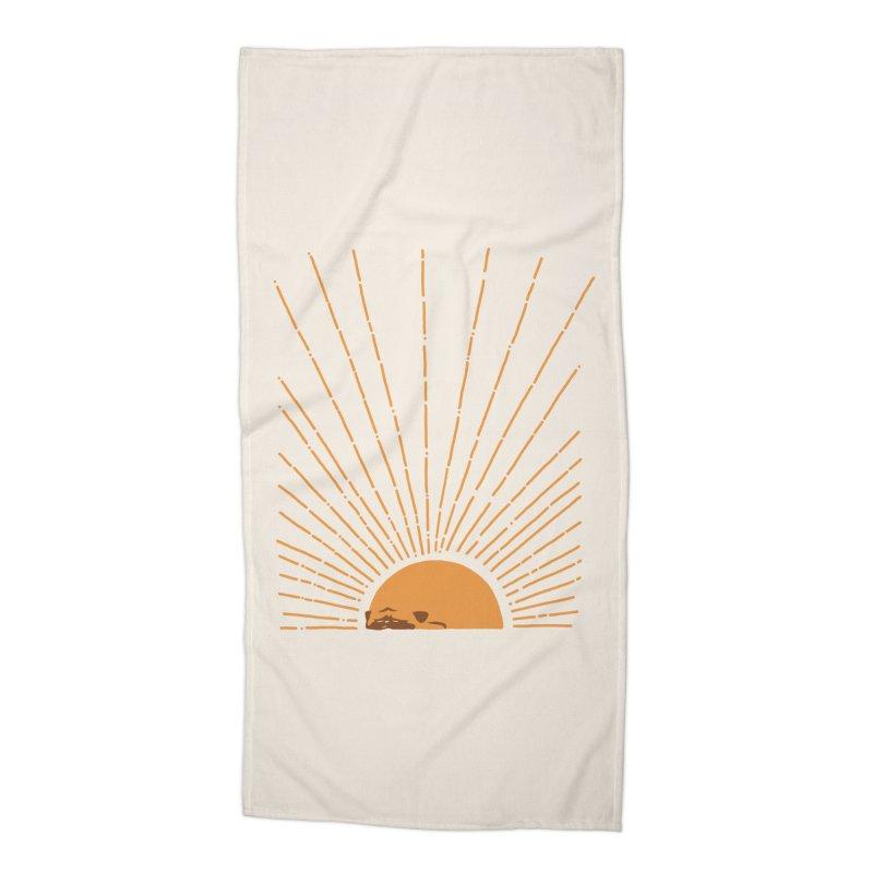 Abstract Sunrise Pug Accessories Beach Towel by huebucket's Artist Shop