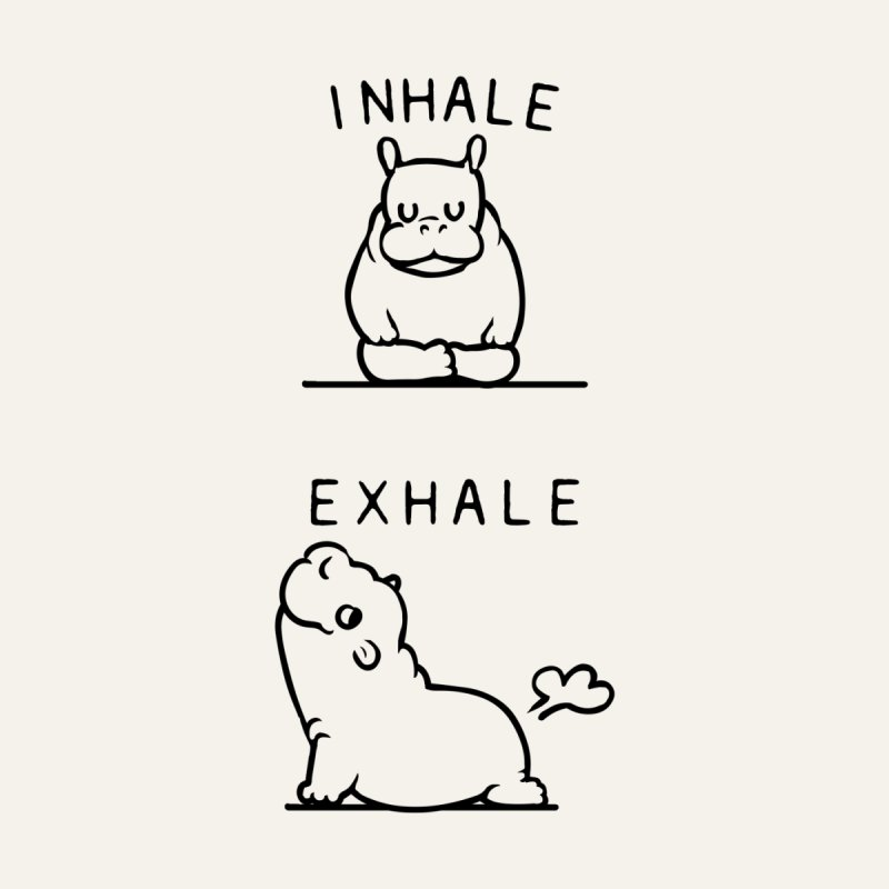 Inhale Exhale Baby Hippo Home Tapestry by huebucket's Artist Shop