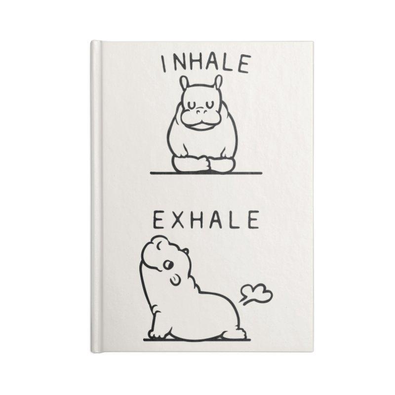 Inhale Exhale Baby Hippo Accessories Notebook by huebucket's Artist Shop
