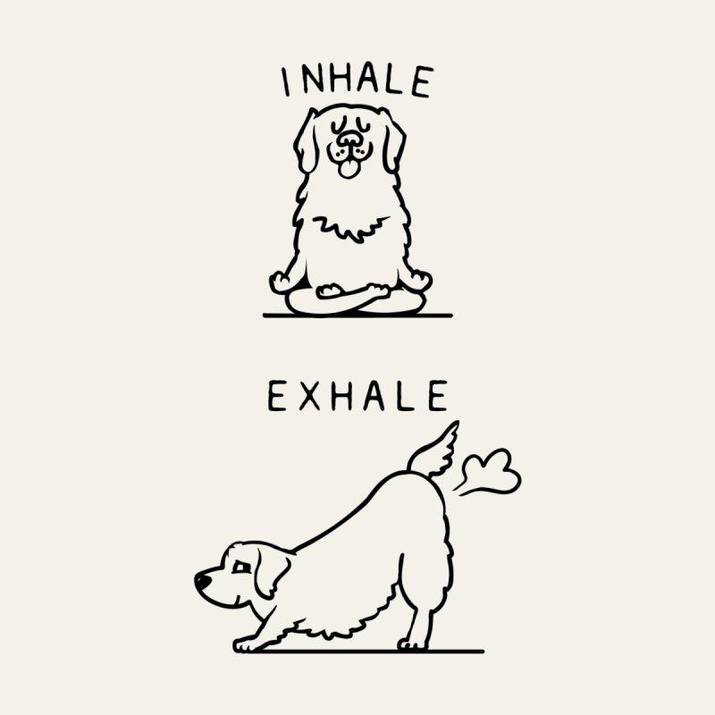 Inhale Exhale Golden Retriever Home Tapestry by huebucket's Artist Shop