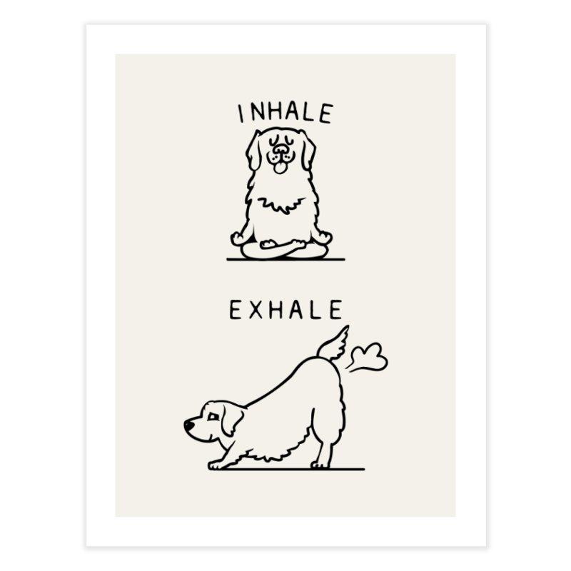 Inhale Exhale Golden Retriever Home Fine Art Print by huebucket's Artist Shop