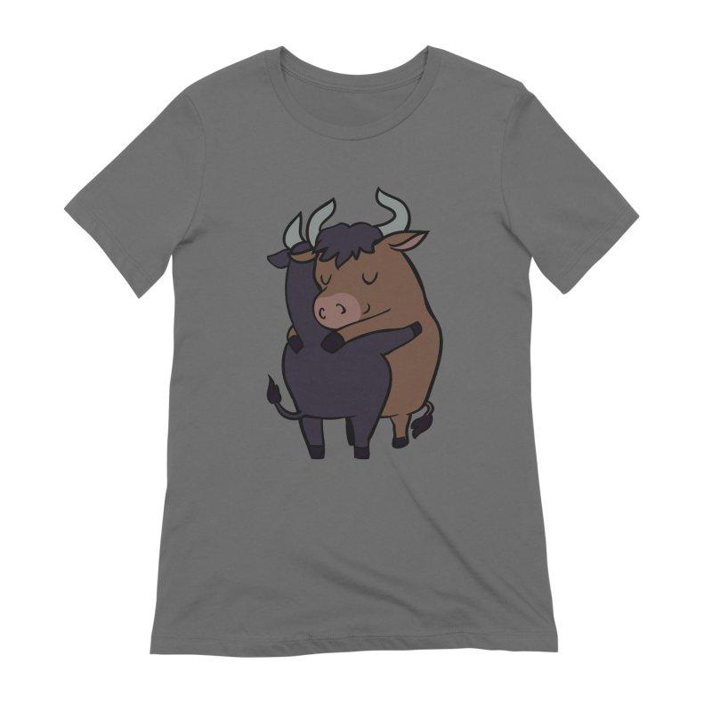 Ox Hugs Women's T-Shirt by huebucket's Artist Shop
