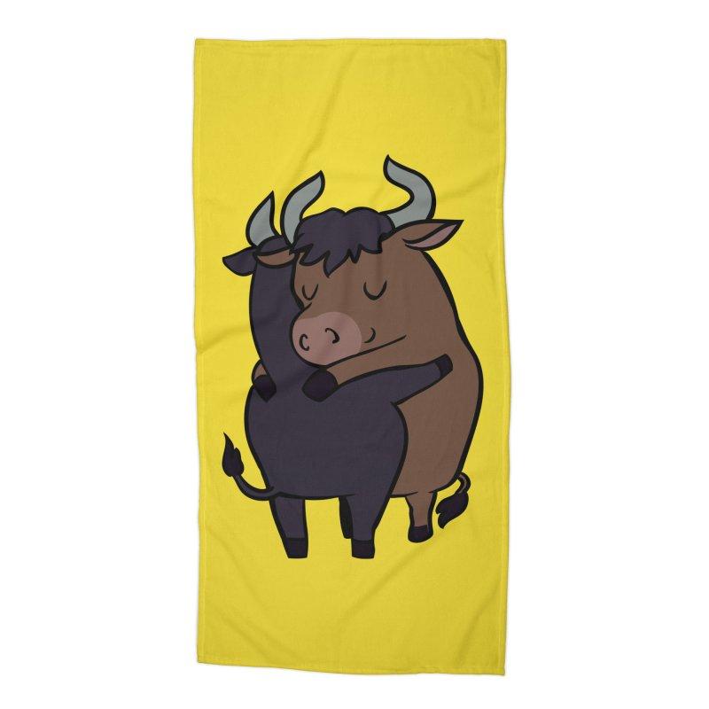 Ox Hugs Accessories Beach Towel by huebucket's Artist Shop